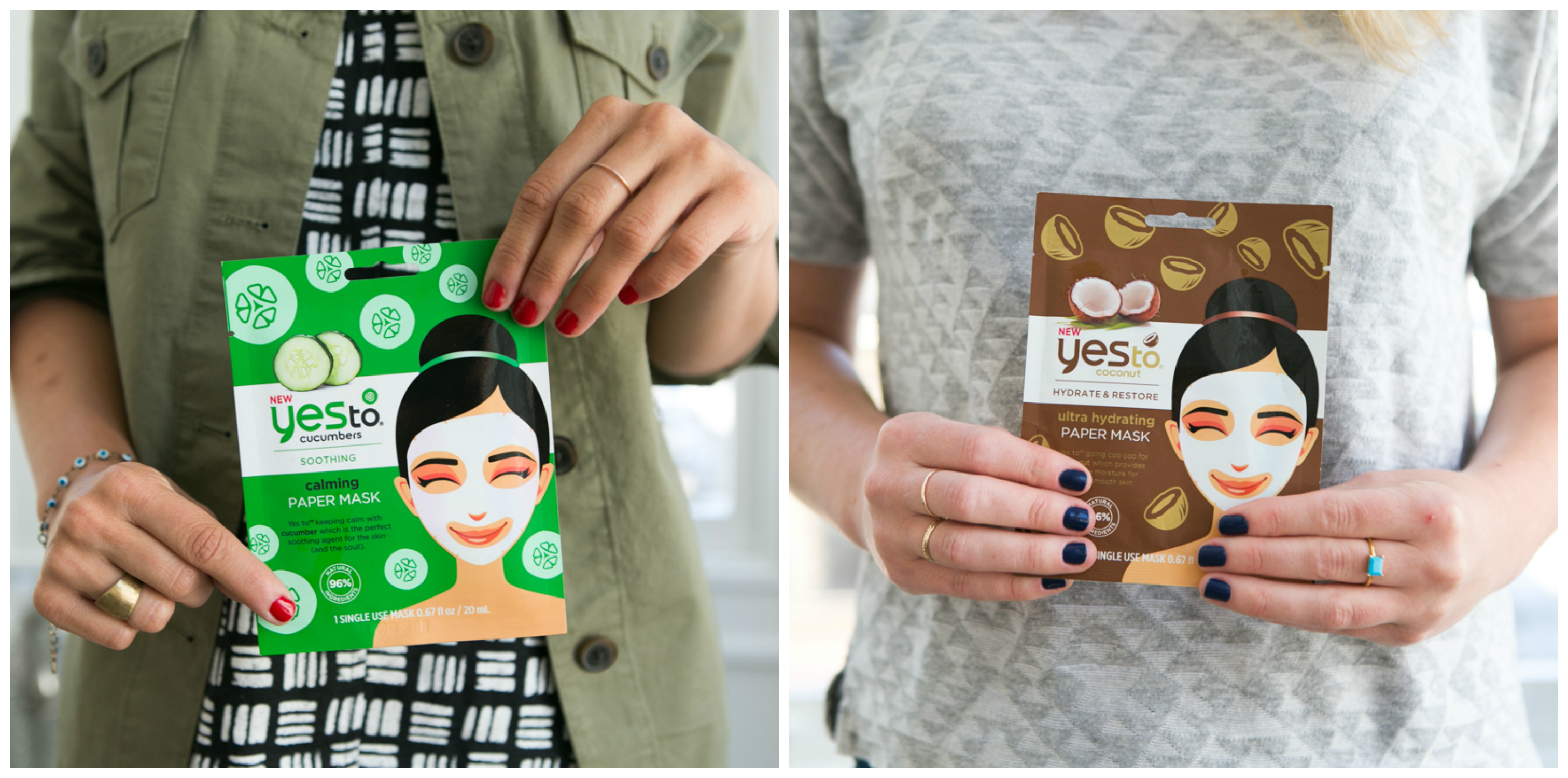 The Mask and Multitask with Yes To's new sheet masks.