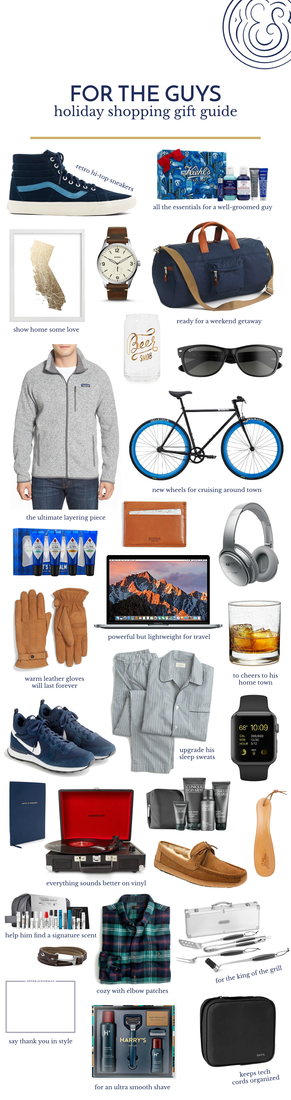 Holiday Gift Ideas for The Guys.