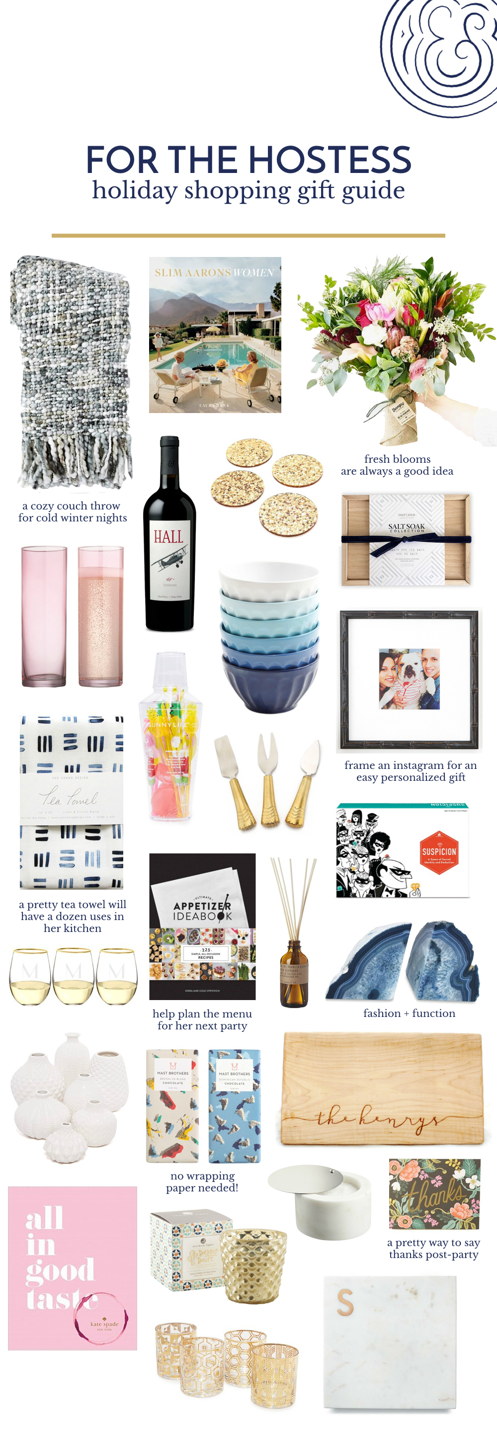 The Best Holiday Gift Ideas for the Hostess.