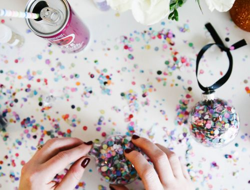 Bold & Bright DIY Ornaments Inspired by IZZE Sparkling Juice.