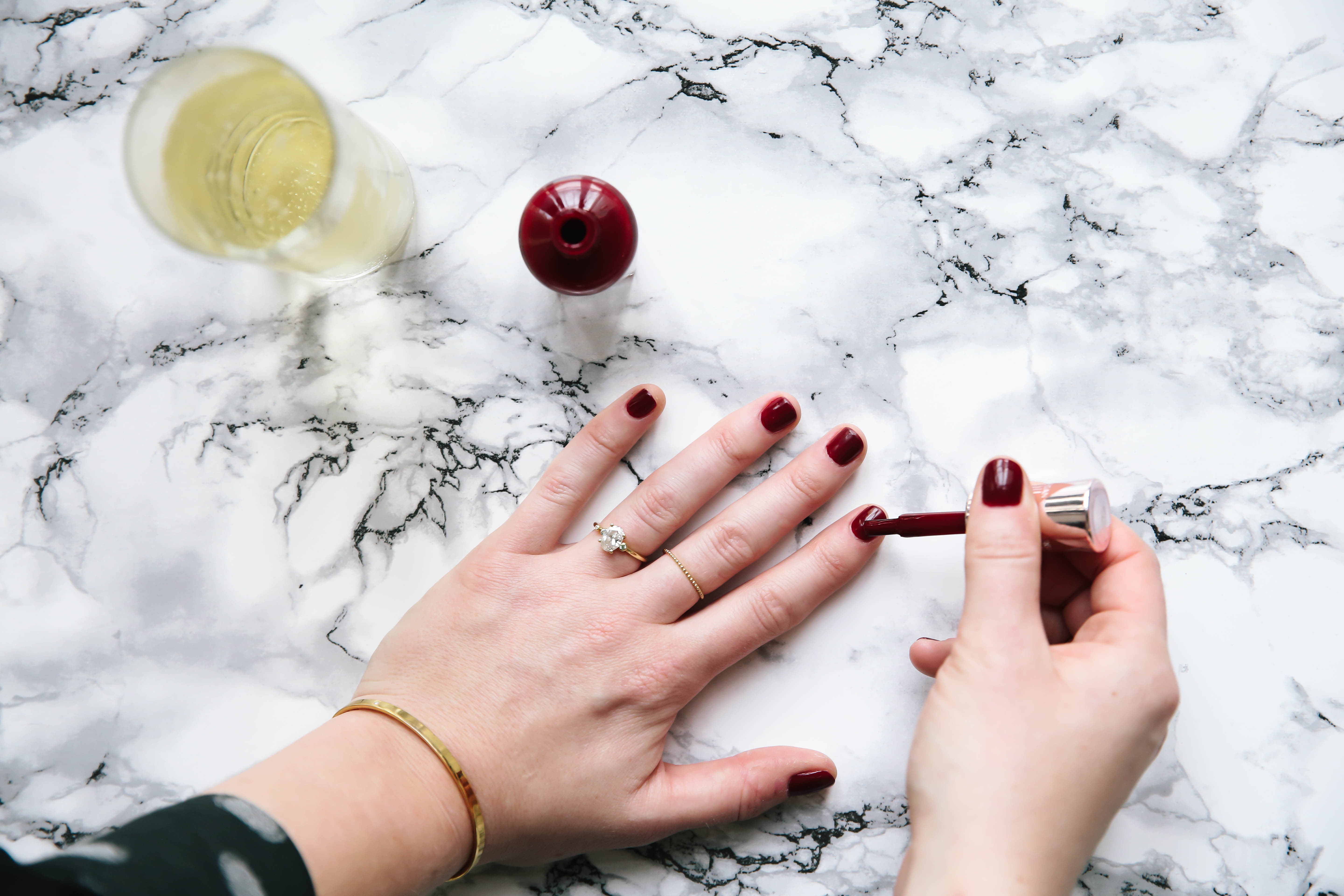 Holiday Ready Nails with Sally Hansen Color Therapy.