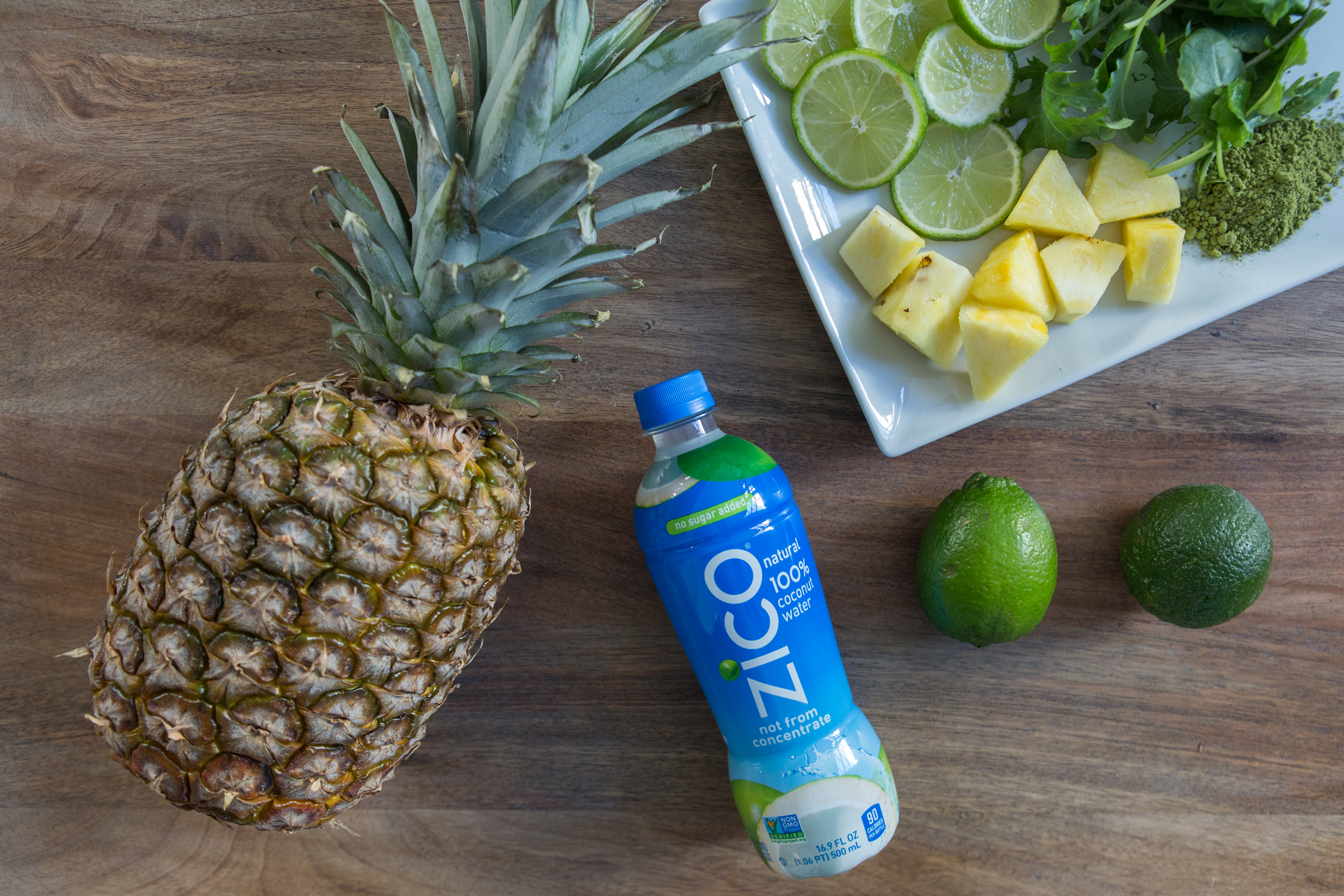 Easy Matcha + Pineapple Smoothie with ZICO Coconut Water.