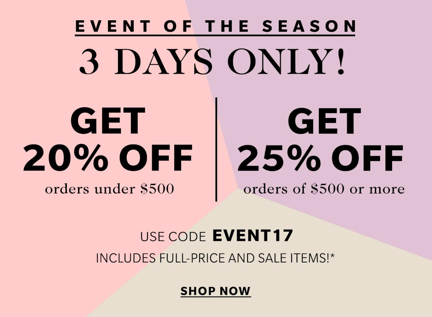 Shopbop sale with up to 25% off designer pieces