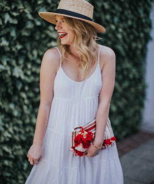 The Best Little White Dress // Cait Weingartner wears a Club Monaco white dress and Steve Madden heels perfect for summer.