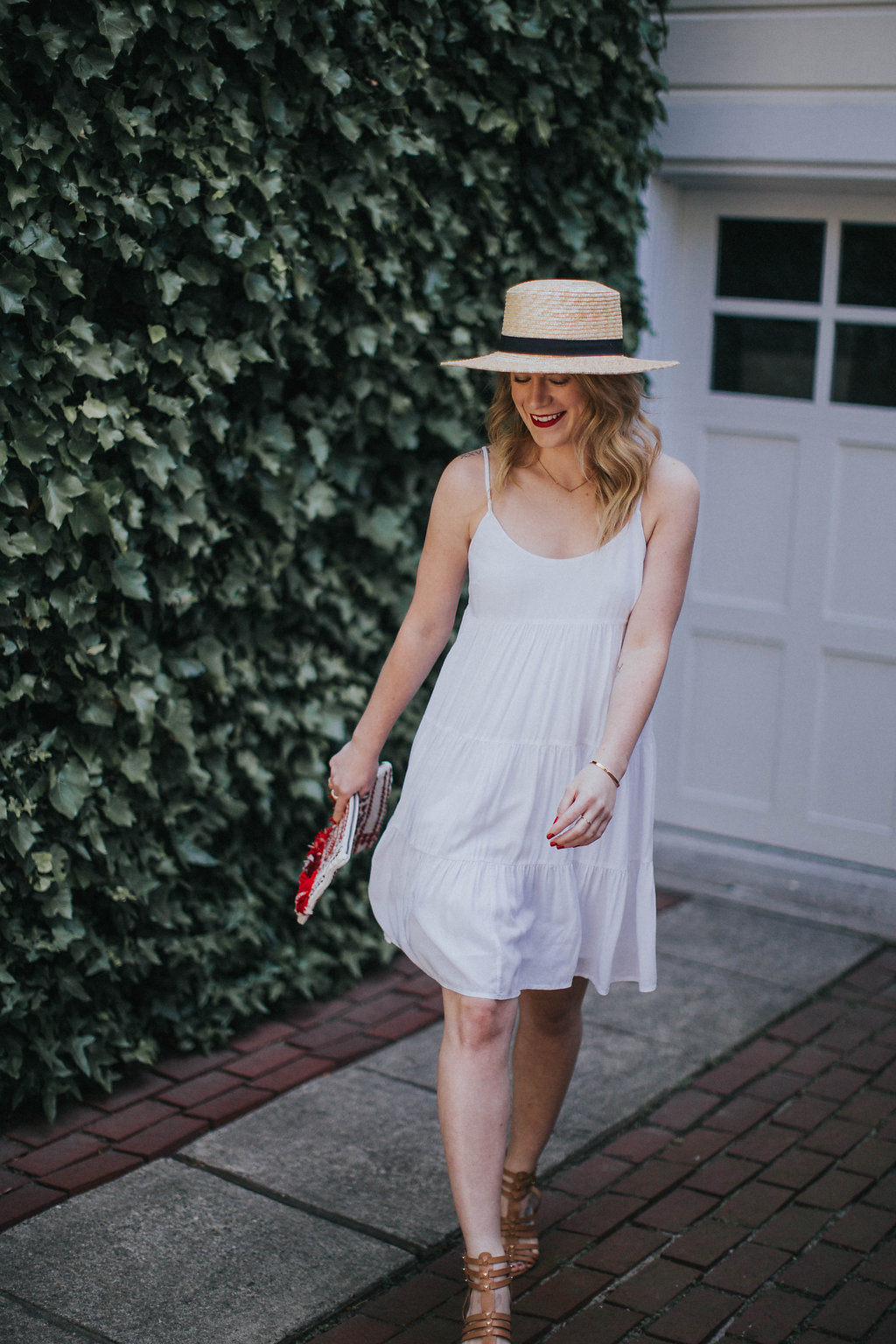 The Best Little White Dress // Cait Weingartner wears a Club Monaco white dress and Steve Madden heels perfect for summer.