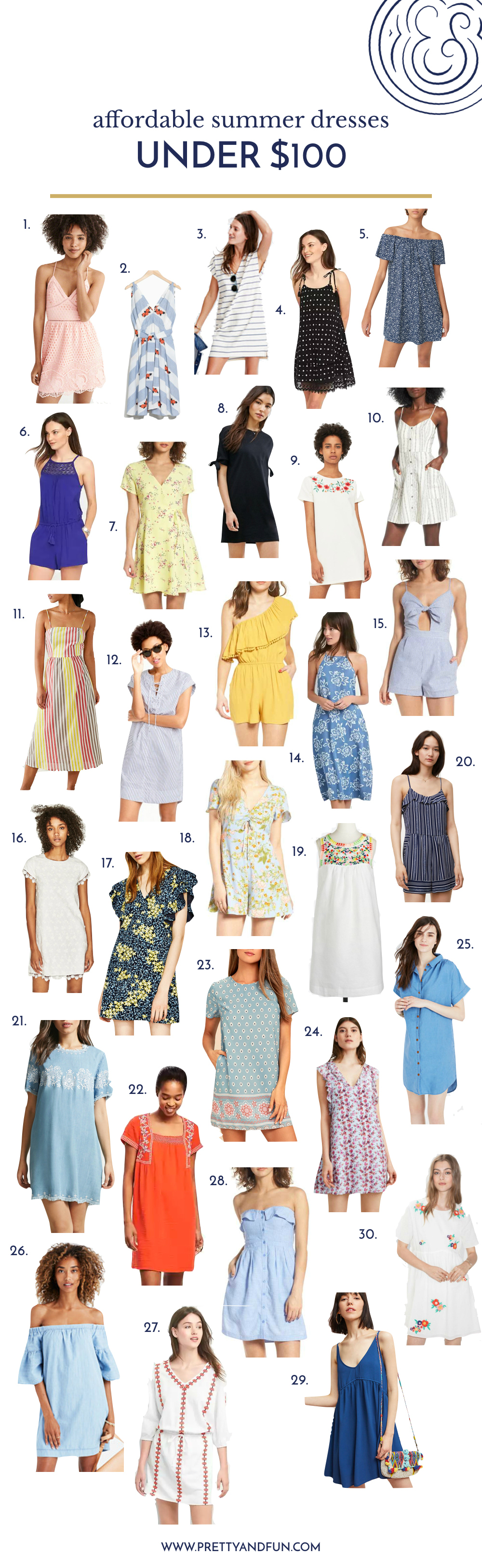 30 Affordable Summer Dresses Under $100.