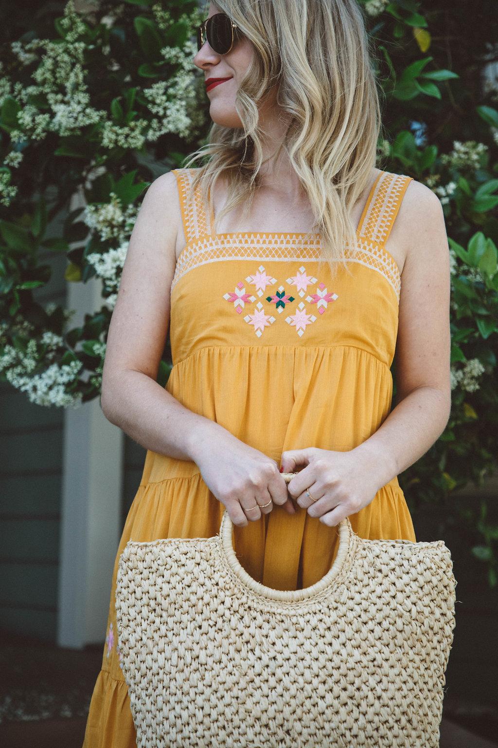 Sunny Yellow Madewell Midi Dress.