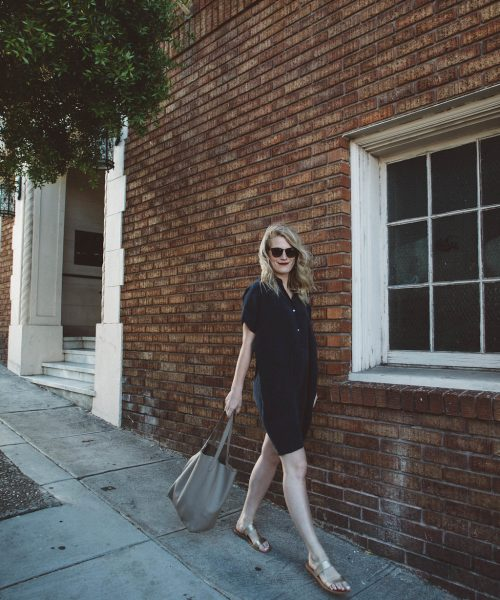 This Everlane silk shift dress is the ultimate easy everyday dress.