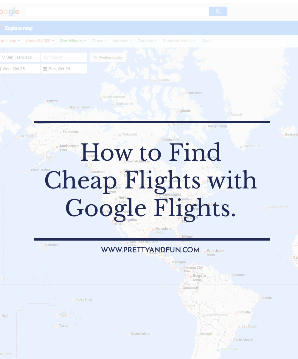 How to Find Cheap Flights using Google Flights.